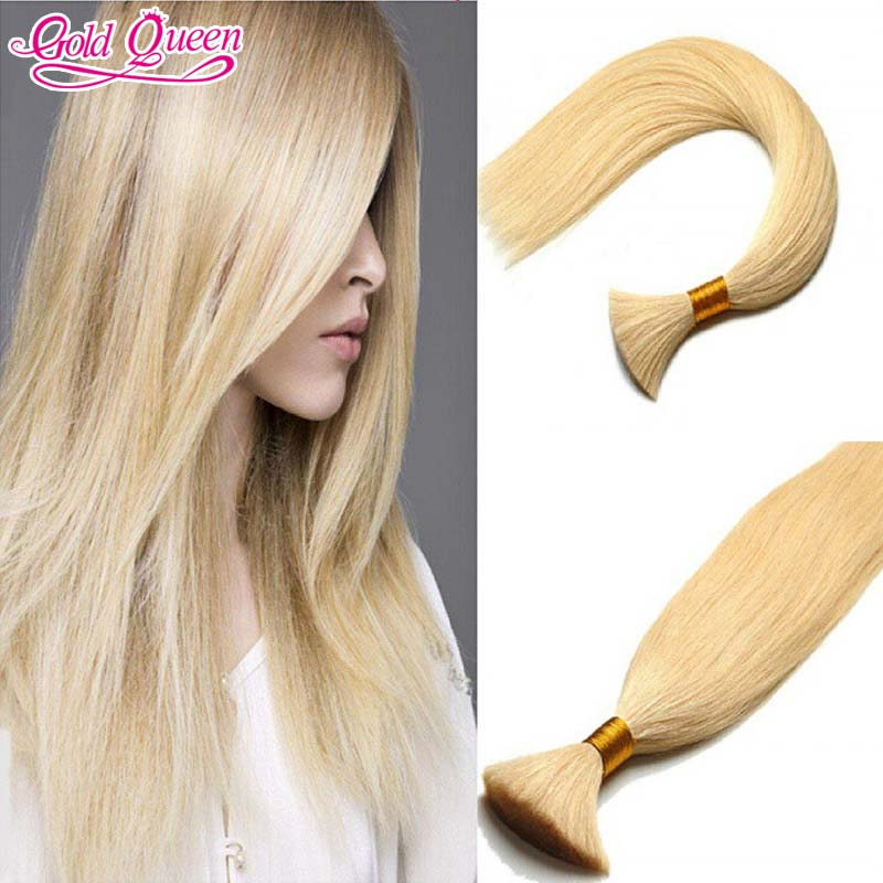 new arrival light blonde bulk hair for braiding 613 blonde brazilian virgin human braiding hair bulk for african american women