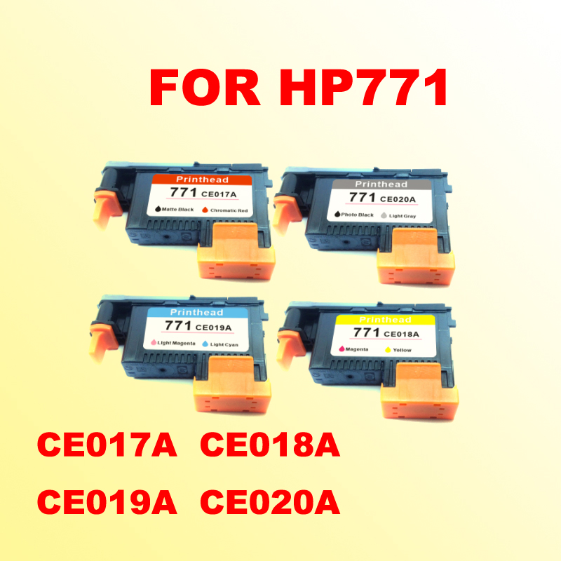 4x printhead For hp771 for hp 771 DESIGNJET Z6200 CE017A CE018A CE019A CE020A printer печатающая головка hp 771 ce018a designjet z6200 ce018a