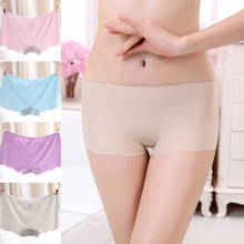 Fashion Women Popular Soft Solid Color Lingerie Briefs Hipster Seamless Underwear Underpants insurance pants Panties For Female