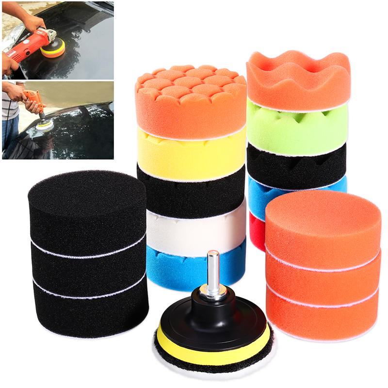 "12* 3/""Sponge Buffing Polishing Pad Kit for Car Polisher with Drill Adapter"