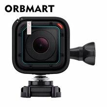 ORBMART מול עדשת מזג זכוכית מסך מגן Case כיסוי עבור GoPro Go pro Hero 4/5 Hero4 Hero5 מפגש מצלמה Ultra ברור