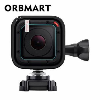 ORBMART przednia soczewka ekran ze szkła hartowanego futerał ochronny pokrywa dla GoPro Go pro Hero 4 5 Hero4 Hero5 sesja aparat ultra przejrzysty tanie i dobre opinie E1547 Ciężka torba Pakiet 1 Tempered glass