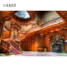 Laeacco Palace Interior Arch Door Window Stairs Doll Photography Backgrounds Customized Photographic Backdrops For Photo Studio