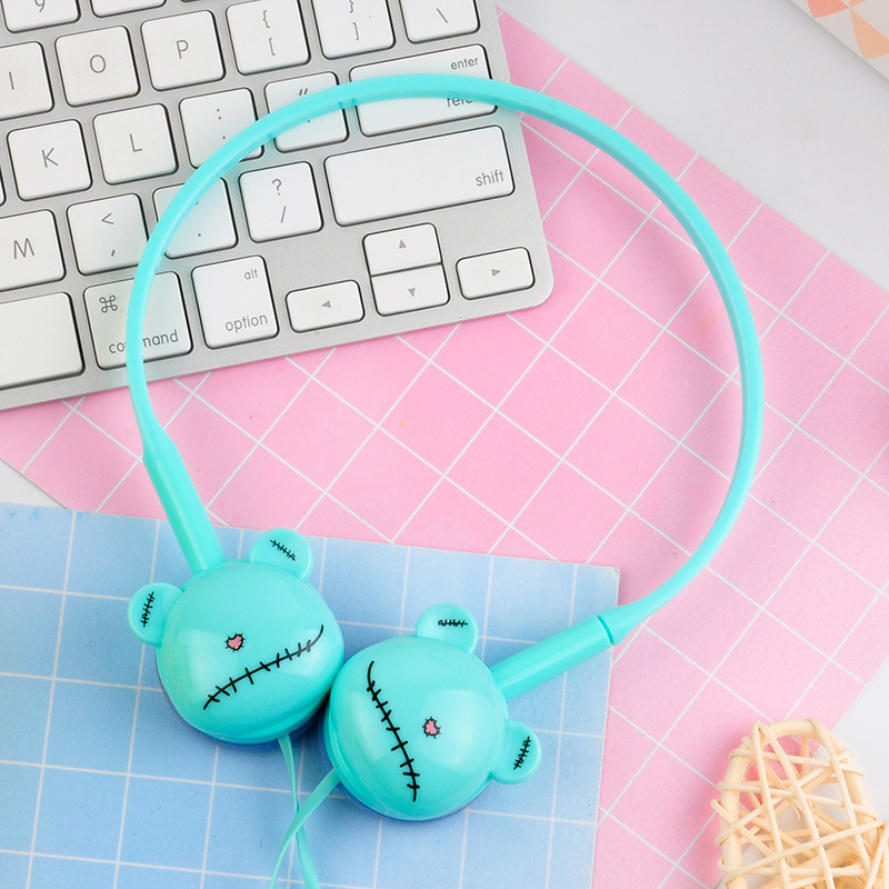 Cute Bear Colored Stereo Pink Headphones Headset Earphones for Samsung Xiaomi mp3 Kids Student Birthday Gifts With Retail box zuczug hot birthday gifts cute headphones candy color foldable kids headset earphone for mp3 smartphone girl children pc laptop