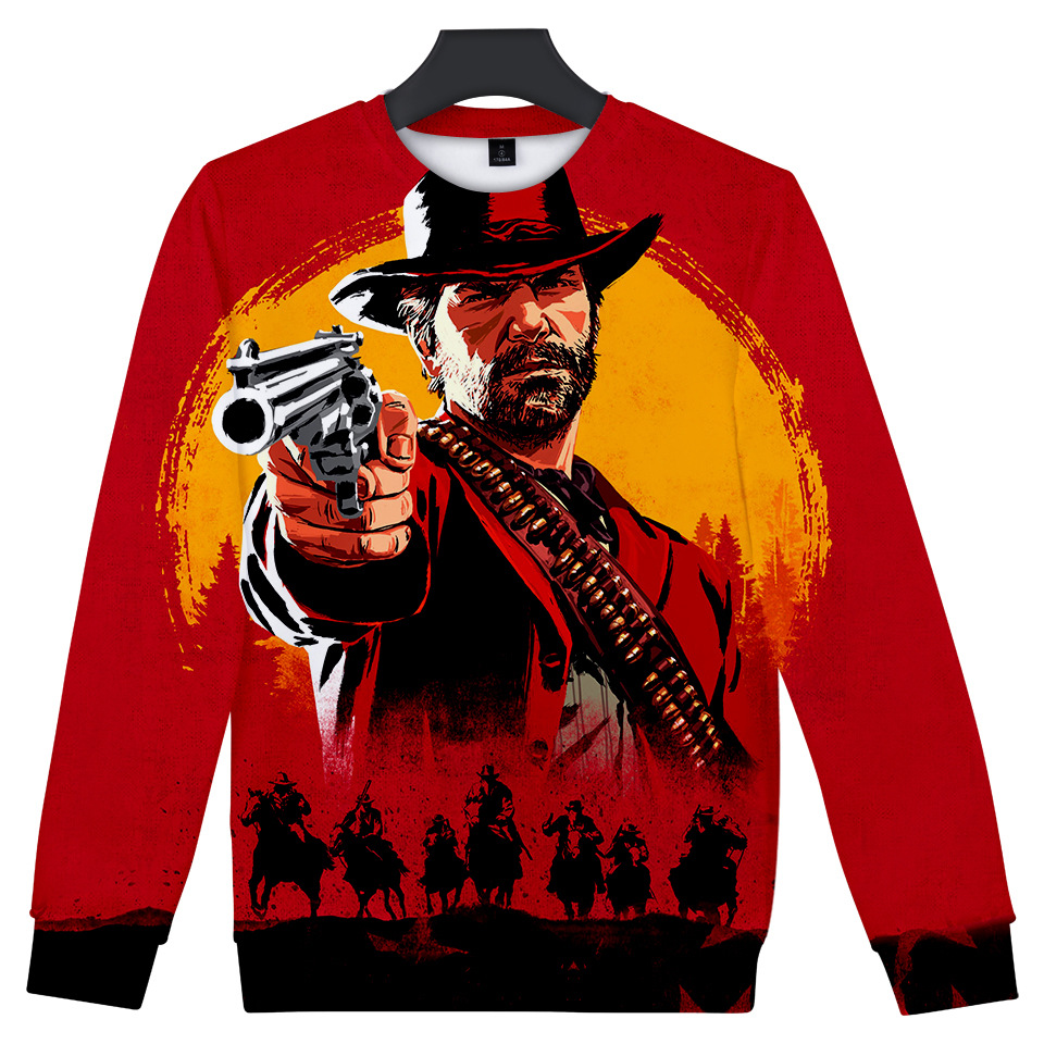 Trendy RED DEAD REDEMPTION 2 Cosplay Hoodies Men Women Boys Spring Casual Printed Sweatshirt
