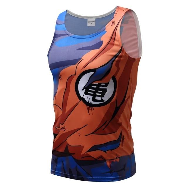 Men Dragon Ball Z Tank Tops Son Goku Vegeta Bodybuilding Vest Sleeveless Super Saiyan Shirt Summer Clothes Homme Dragonball Tee 4
