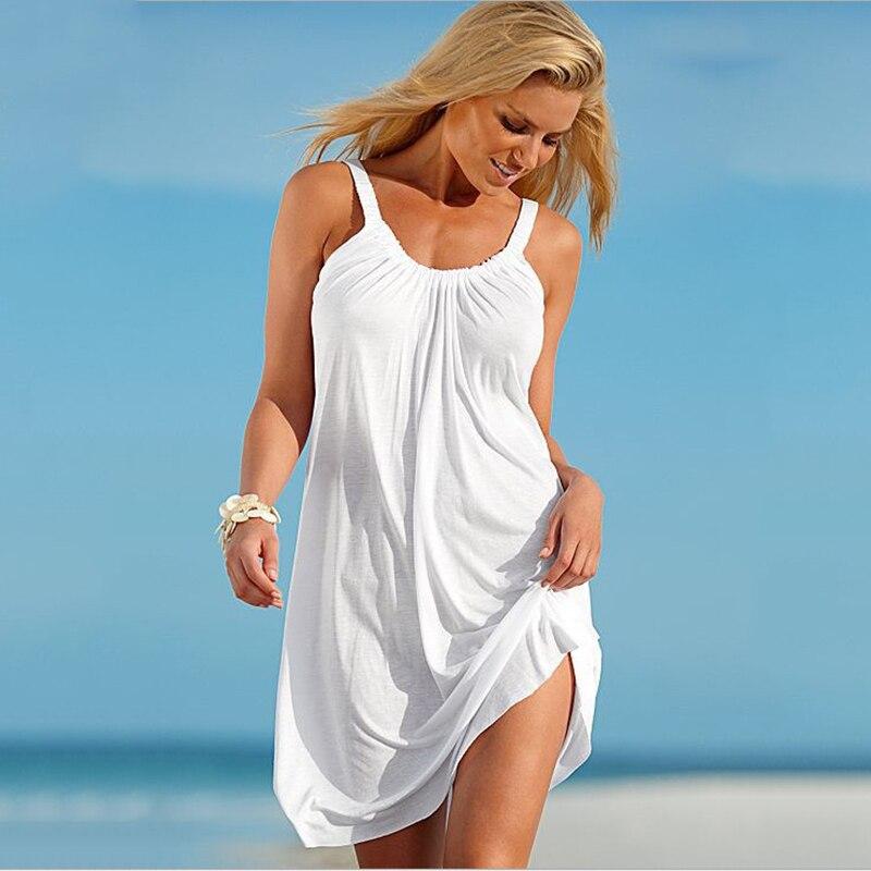 2018 Hot Sale Fashion Women Dress Sexcy Loose Summer Beach Dress Multicolor Large Size Sundress Women Vestido Drop Shopping