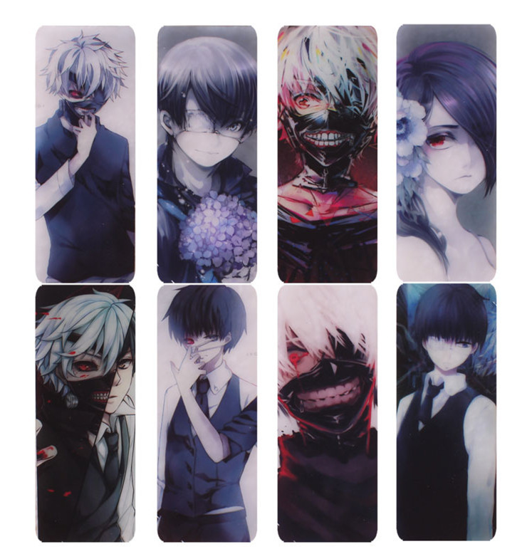 8 pcslot tokyo ghoul japanese 2015 hot anime pvc transparent bookmark high quality in bookmark from office school supplies on aliexpresscom alibaba