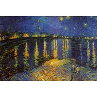 Hand painted landscape Van Gogh oil pictures canvas large wall painting Starry Night over Rhone pop art for living room decor