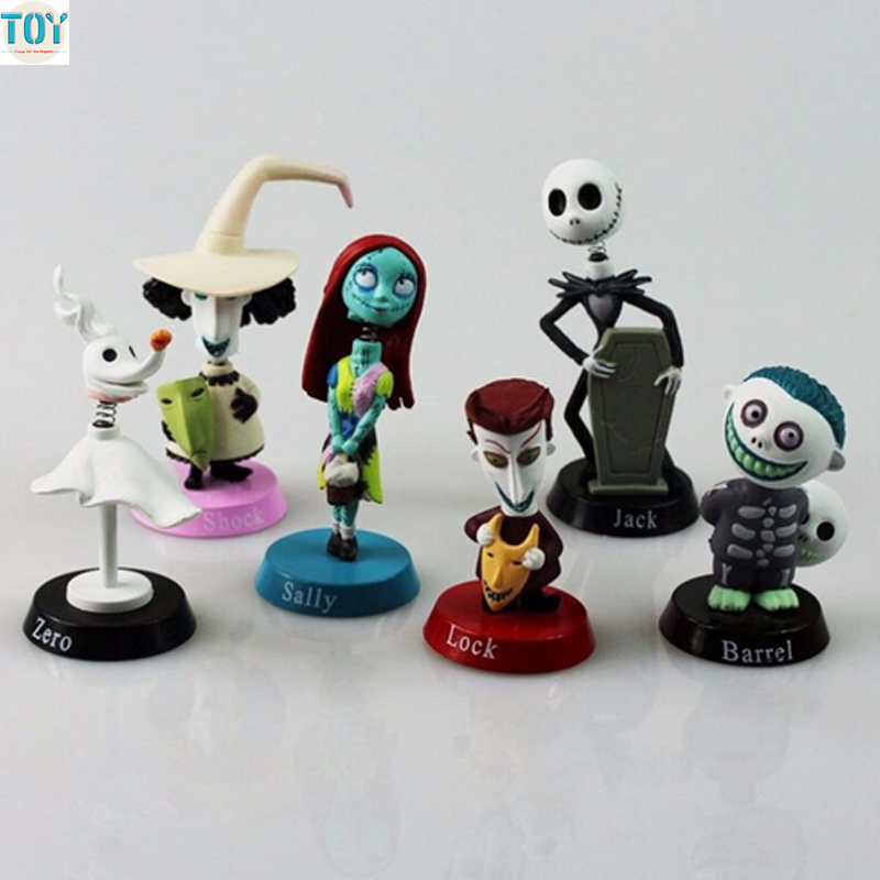 New 6 PCS Jack Skellington Toy Nightmare Before Christmas Tim Burton ...