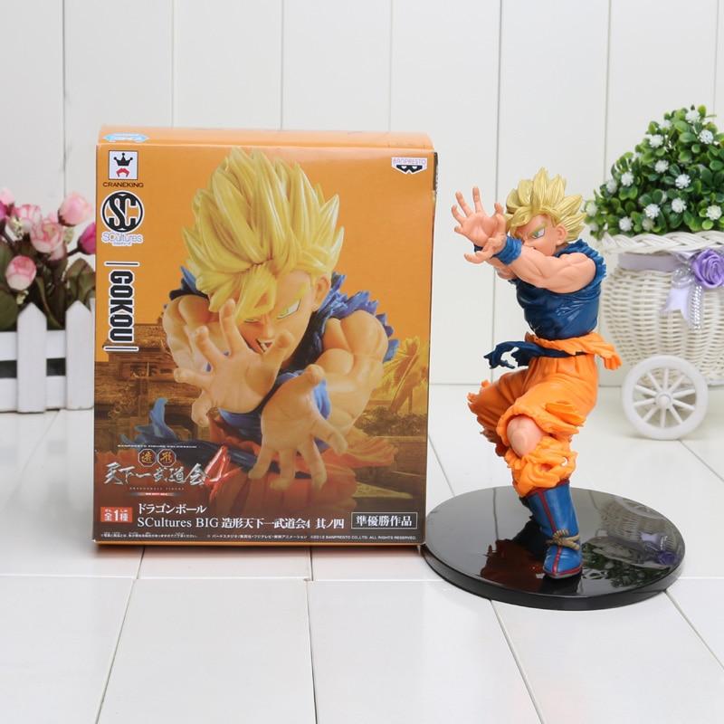 718cm Dragon Ball Z Budokai Son Goku Gokou Super Saiyan PVC Action Figure Model Toy new anime fukkatsu no f super saiyan god ss gokou goku action figure s h figuarts shf dragon ball z toy 16cm box