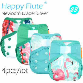 New! (4pcs/lot) Happy Flute newborn diaper cover for NB baby,double leaking guards, waterproof and breathable - DISCOUNT ITEM  0% OFF All Category