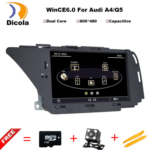 For Audi A4 A5 2009~2013 Car dvd player Multimedia System / Radio Stereo CD DVD TV GPS Map Nav Navi Navigation HD Touch Screen