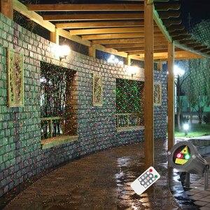 Image 4 - Proyector láser de estrellas, luces navideñas rojas y verdes, parpadeo estático con mando a distancia, impermeable, decoración de árboles para duchas de jardín al aire libre