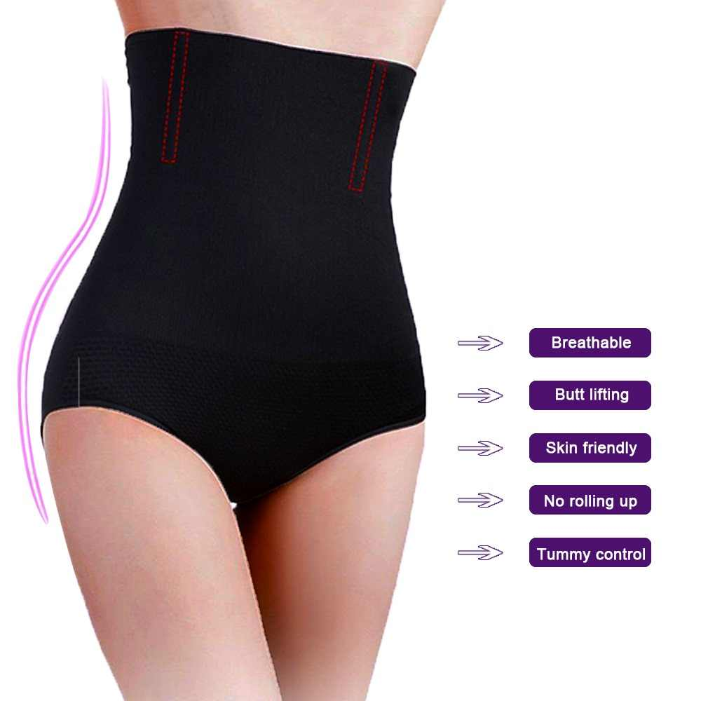 bdb765c8214e ... Seamless Women High Waist Slimming Tummy Control Knickers Pant Briefs  Shapewear Underwear Body Shaper Lady Corset ...