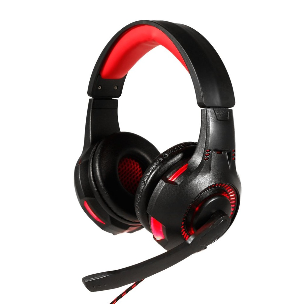 Gaming Headset with Mic-Sound Clarity Noise Reduction Headphone LED Lights for Computer Game for PS4/XBOX-ONE