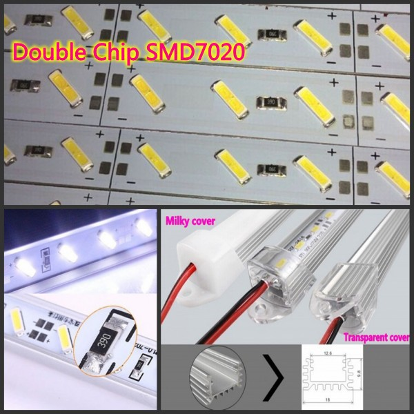 50Kits x 7020 led Strip Light 100cm 50cm Samsung chip 12V 24V SMD7020 Hard led Bar