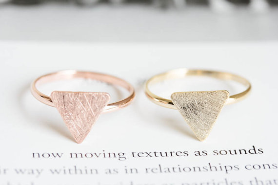 Min 1pc Trendy Triangle Ring Tiny Midi Rings For Women Simple Design Knuckle Rin