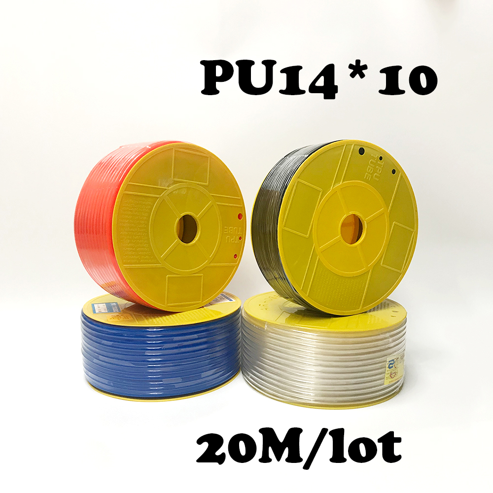 PU14*10 20M/lot Free shipping Pneumatic parts 14mm PU Pipe for air pneumatic hose 14*10 Compressor hose 20 meters pneumatic parts 8mm pu pipe for air pneumatic hose 8 5 compressor hose