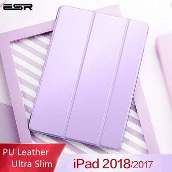 Ipad kılıfı 9.7 inç 2018 Kapak, ESR Yippee Renkli Ultra Ince PU Deri Otomatik Uyku Kılıf için Yeni iPad 9.7 inç 2017 & 2018 Sürümü