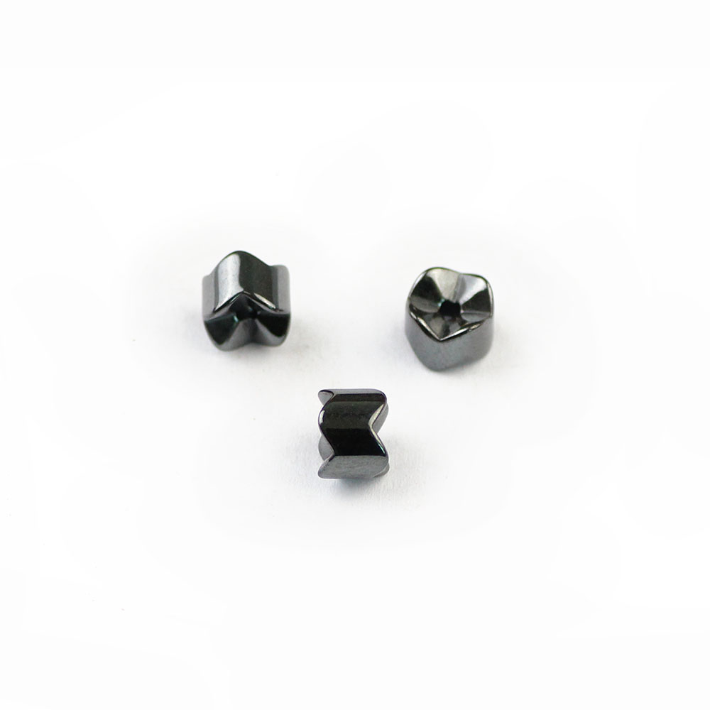 BTFBES Black Hematite Gear Geometric Beads Natural Stone Ore 5/7mm Magnetic Therapy Loose Beads For Jewelry Bracelet Making DIY