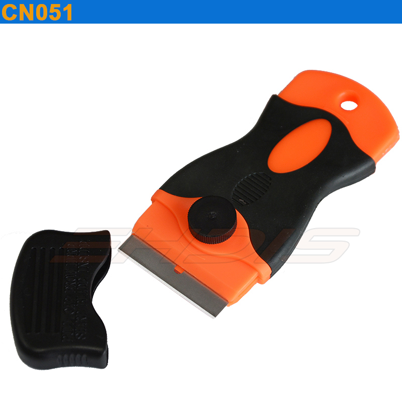 EHDIS Mini Razor Scraper with 1.5 inch Changeable Blade Window Tint Tools Vinyl Film Glue Removal Tool Car Sticker Tools CN051 diy small car cleaning sets film sticking tool squeegees scrapers sunvisor film sticking tool
