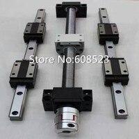 12 HBH20CA guia Linear Quadrado define + 4 x SFU1605-300/600/800/800mm Ballscrew + 1.5KW ER11 eixo de refrigeração de ar do motor + 7 pcs collet