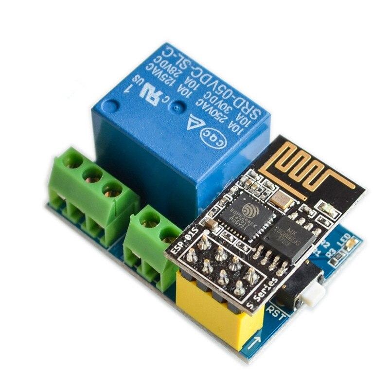 цена на 1pcs ESP8266 ESP-01S Relay module relay WIFI intelligent socket.Add ESP-01S For arduino