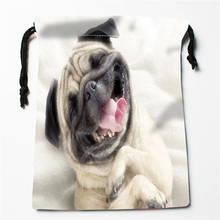 T#! r83 новая сумка для щенков мопса с принтом на заказ, компрессионная сумка на шнурке, размер 18X22 см, 7& 12ft-r83