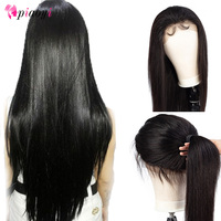 Piaoyi Brazilian 360 Lace Frontal Wigs Remy Human Hair Straight Lace Front Wigs Pre Plucked Hairline With Baby Hair