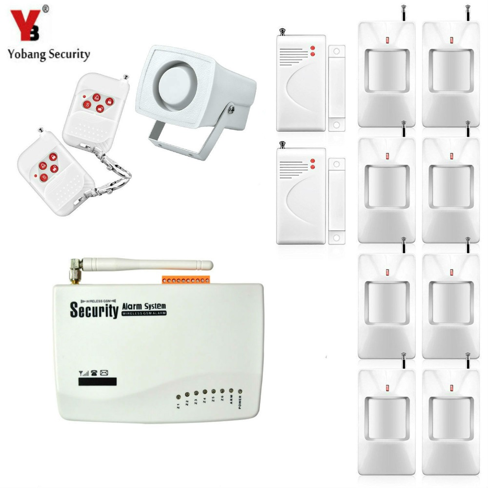 Yobang Security- Yobang Security GSM Alarm System Real Voice Russian English Language For Optional Wireless GSM SMS Home Alarma