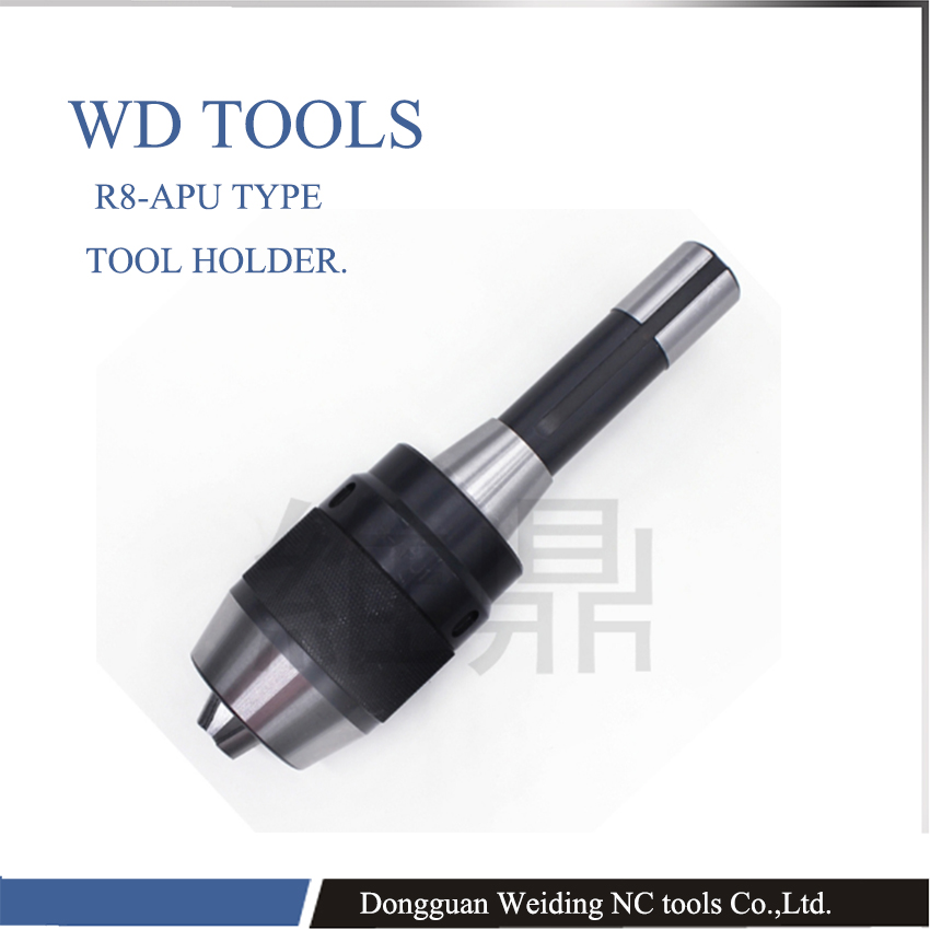 Integrated CNC drilling chuck, shank r8 apu16, English and male boom milling machine, R8 conjoined automatic drill chuck