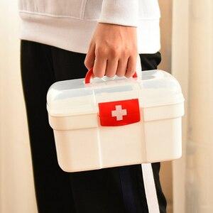 Image 4 - 大家族緊急キット子供緊急ボックスポータブル救急箱旅行医療キットヘルスケア収納袋空の袋