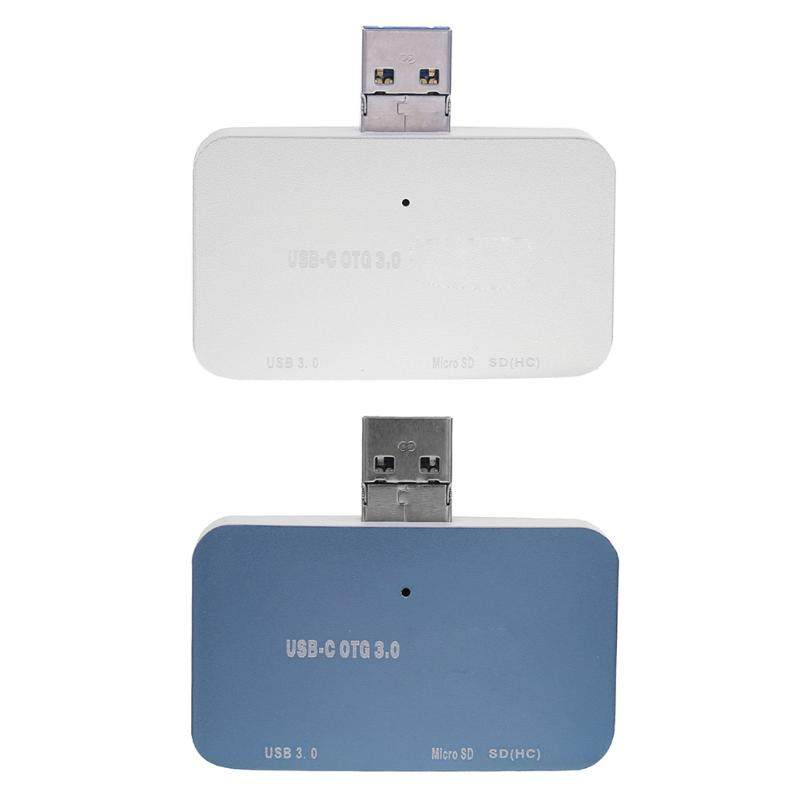 Micro USB Port Portable USB 3.0 Port Hub Multifunctional OTG Card Reader High Speed USB Hubs for Computer Peripherals