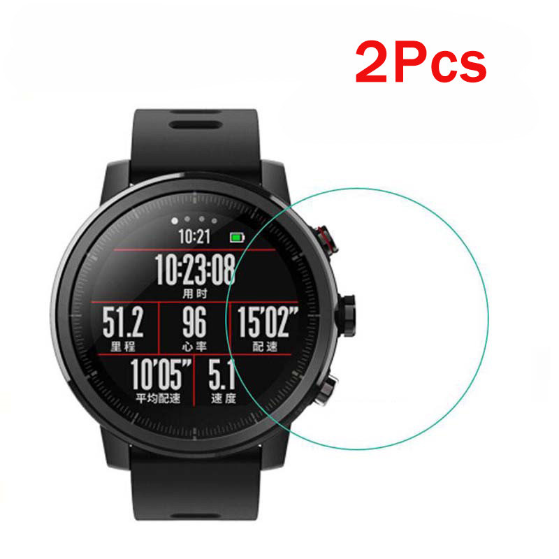 2Pcs Protector For Xiaomi Huami Amazfit Stratos 2 2S Glass Screen Protector Soft TPU (Not Tempered Glass) Protective For Amazfit
