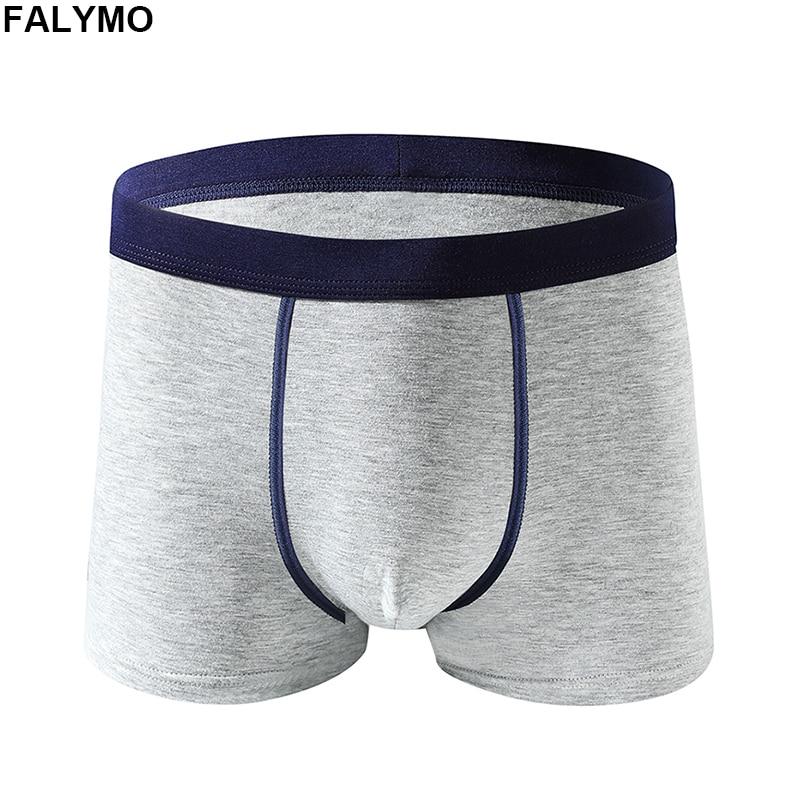 Men's Boxer Shorts Cotton Underwear Male Panty Breathable Underpants Black Grey Boxers Shorts Classic Soft Drawers Wholesale