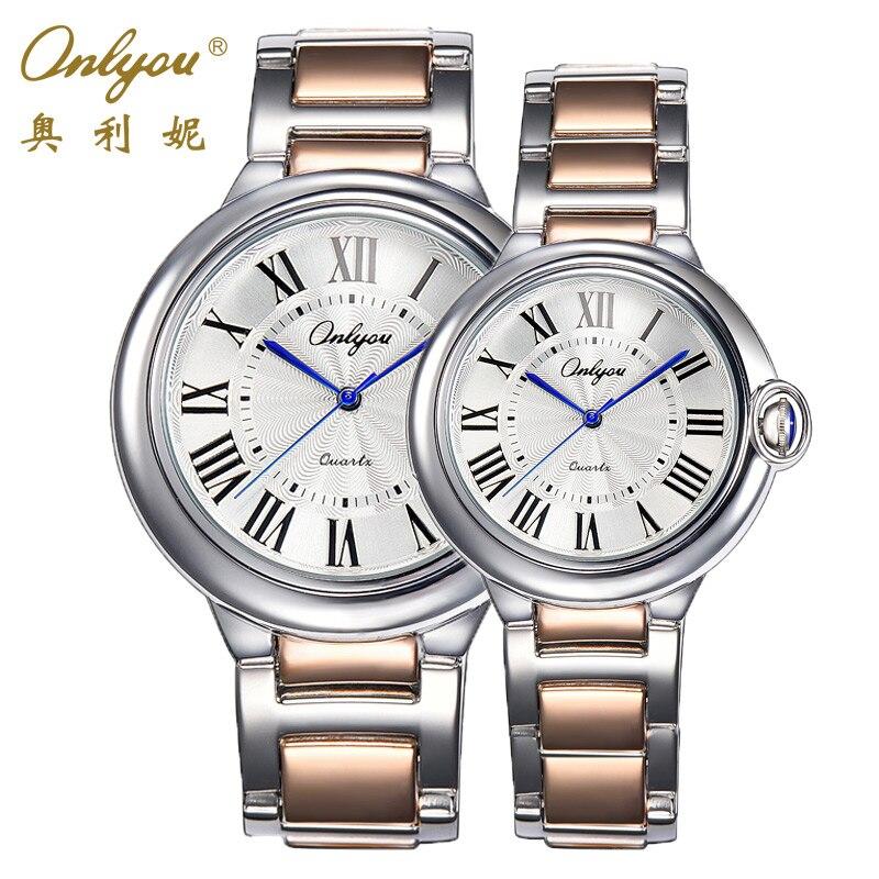Prix pour Montre-bracelet Pour Hommes Femmes Japon Chiffres Romains Quartz Analogique Mouvement Bracelet En Acier Inoxydable Relogio Masculino 82001