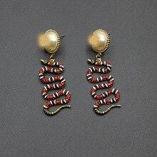 2017 new European and American baroque serpentine  gem color nightclub ladies earrings 287