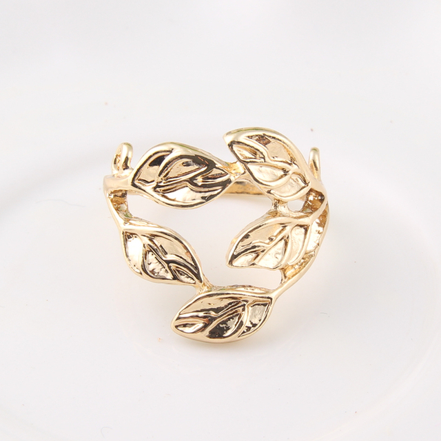 Modeschmuck gold ring  Aliexpress.com : Vintage Marke Design Gold Ring Blattform ...