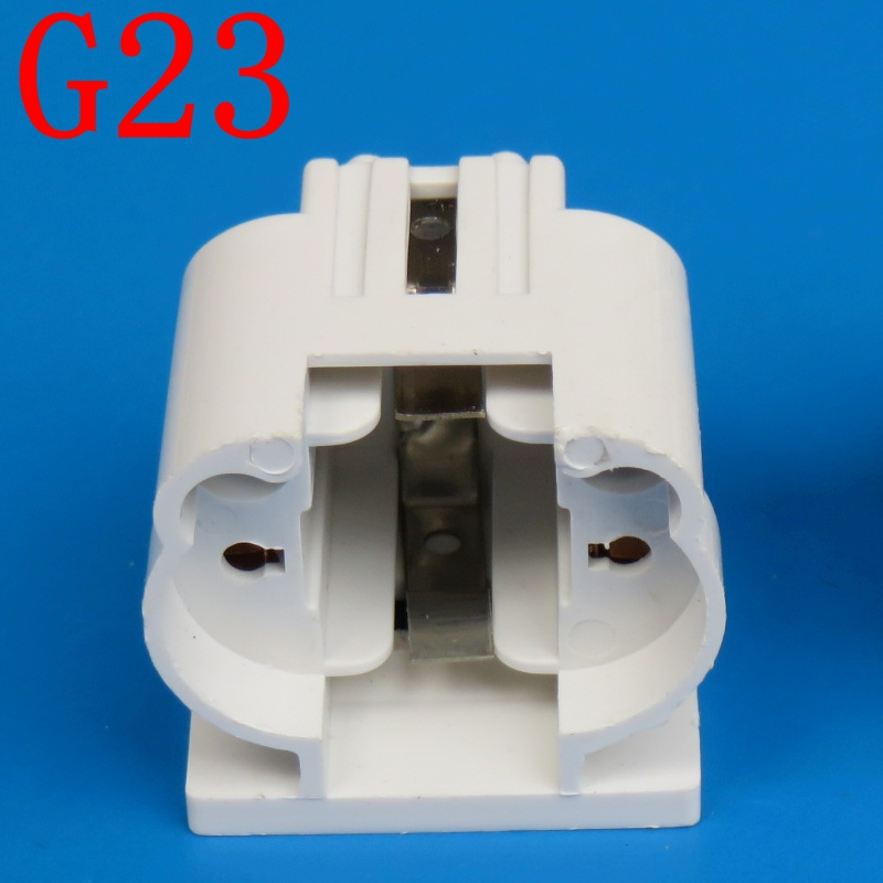 Free ship 10pcs/lot <font><b>G23</b></font> lamp holder / H Tube 11W energy-saving LED horizontal Plug Lamp <font><b>Socket</b></font> <font><b>G23</b></font> two needle Plug Light BASE image