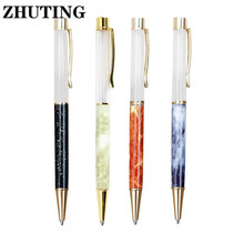 1PC Creatively 1.0mm Ballpoint Pen Metal DIY For Writing Stationery Office School