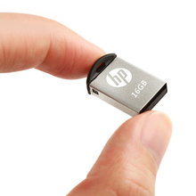 HP USB Flash 16gb Pendrive Memory Stick Metal Mini USB v222w Micro M2 Music Disk Cle-USB For Vehicle DJ Pen drive U Disk