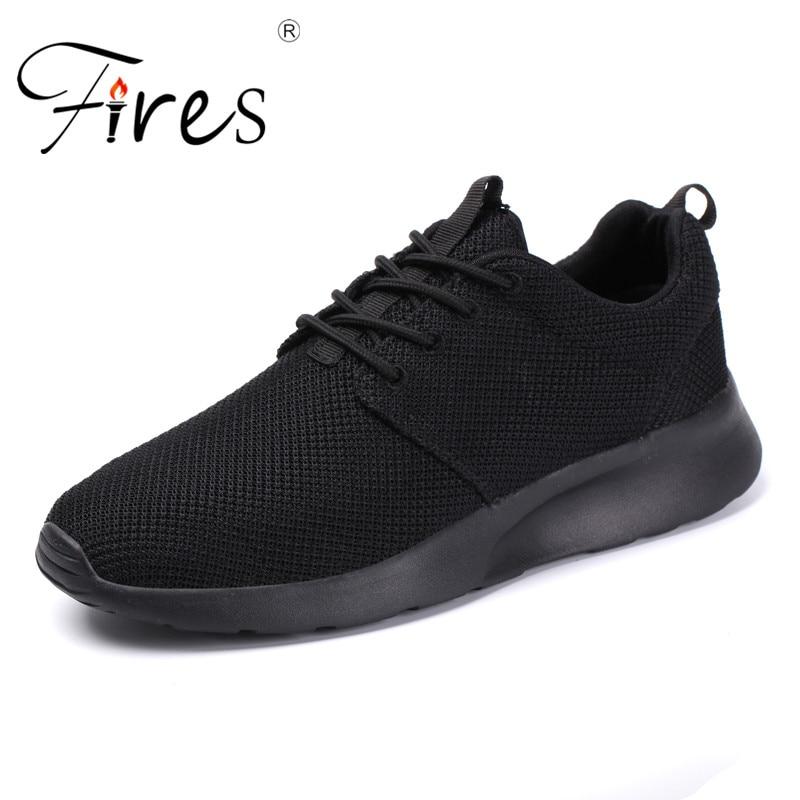 Incendies Hommes Sport Chaussures Grande Taille Sneakers Cpouple Chaussures Antumn Extérieur Respirant Sport Chaussures de Course Grande Taille Marque Sneaker