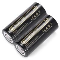 2 шт. HK LiitoKala Lii-50A 3,7 В 26650 5000 мАч Высокая емкость 26650-50A литий-ионная аккумуляторная батарея для светодиодного фонарика