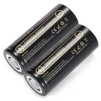 2pcs HK LiitoKala Lii-50A 3.7V 26650 5000mah Ad Alta Capacità 26650-50A Li-Ion Batteria Ricaricabile per Torcia Elettrica del led