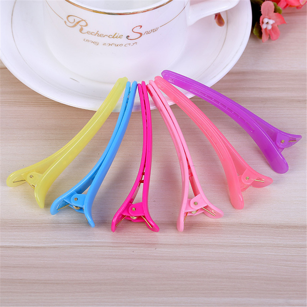 6Pcs/Pack Dedicated Hairpins Plastic Barrette Braiding Hairclip Hair Pin Salon Section Grip Hair Clips Hairdressing Styling Tool