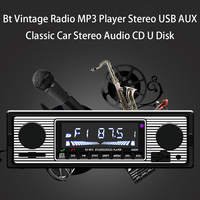 Bt Vintage Radio MP3 Player Stereo USB AUX Classic Car Stereo Audio U Disk For Tesla Model 3 Bmw Ford Volkswagen Audi Peugeot