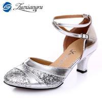 Zuoxiangru Salsa Latin Dance Shoes For Women Tango Ballroom Dance Shoes High Heels Soft Dancing Shoes 3cm Ballroom Dance Sandals