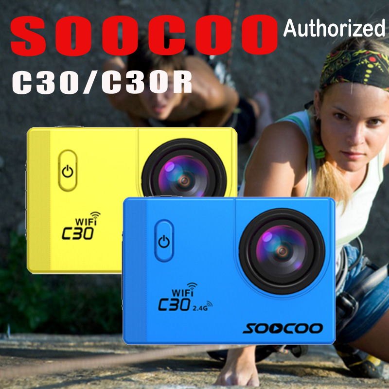 Action camera Original SOOCOO C30 C30R Remote Ultra FHD 4K WiFi 1080P 2.0 LCD 170D Sport Go Waterproof Pro camera deportiva action camera h3r h3 ultra hd 4k 170d lens go dual screen camera pro waterproof 30m remote control sport camera