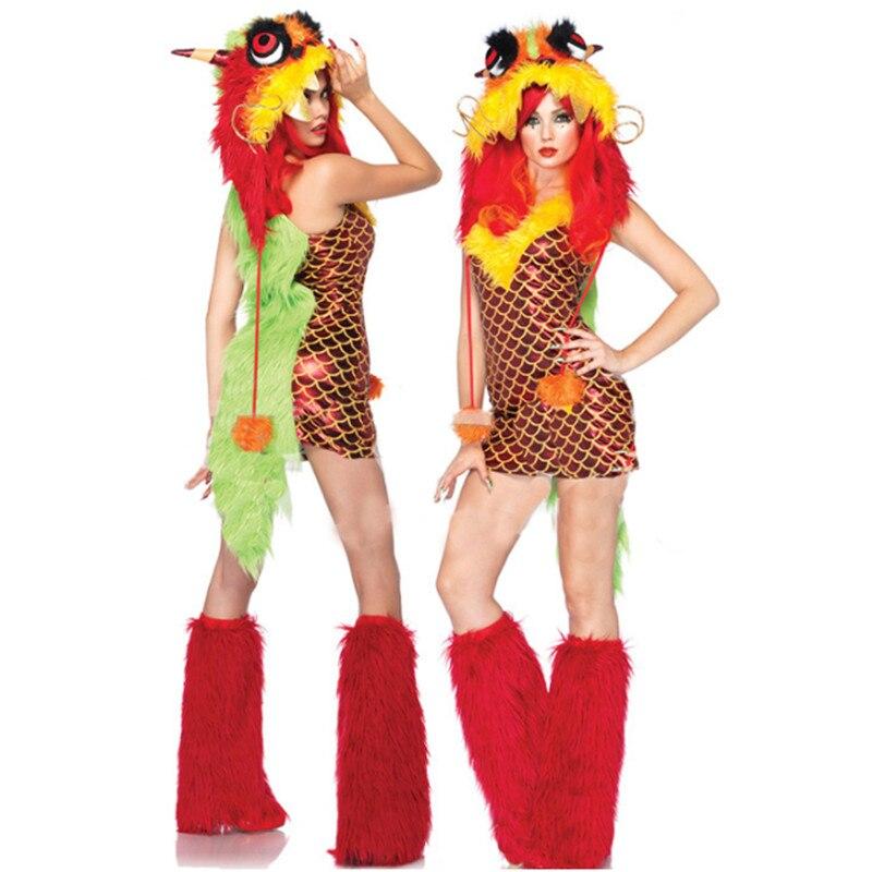 Haute qualité Sexy robe de sirène avec chapeau flamant rose en peluche monstre tenue de noël Halloween fête adulte Animal Cosplay Costume